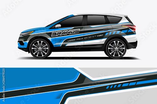 Fotografia, Obraz Car decal wrap design vector