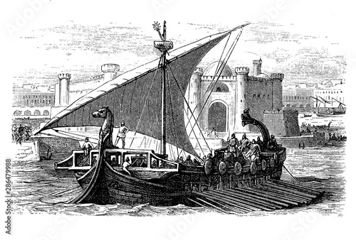 Photo The Phoenicians were the master of the Mediterranean maritime traffic and their