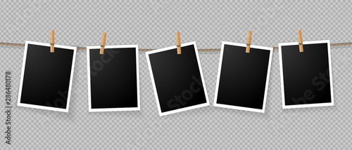 Fotomural  Realistic detailed photo icon design template