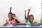 Fototapeta Łazienka - Slight Smile African Black Ethnicity School Girl