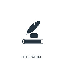 Feather With Ink Icon. Simple ...