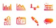 Chemistry pipette, Ranking stars and Music making line icons set. Start business, Balance and Investment graph signs. Column chart, Messenger symbols. Laboratory, Winner results. Vector