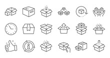Box Line Icons. Package, Deliv...