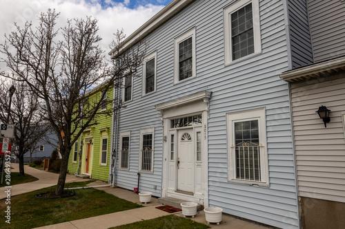 Fototapeta Colorful Doors and Houses of Halifax  obraz na płótnie