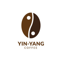 Yin Yang Coffee Logo Design Can Be Used As Symbols, Brand Identity, Company Logo, Icons, Or Others. Color And Text Can Be Changed According To Your Need.