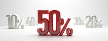 Sale 50%. 50 Percent Discount ...