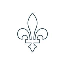 Thin Line Fleur-de-lis Icon