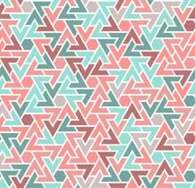 Coral Color Seamless Geometric...