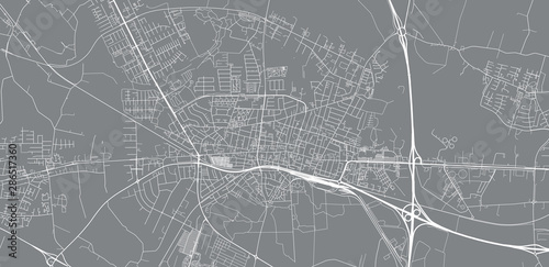 Photo Urban vector city map of Herning, Denmark