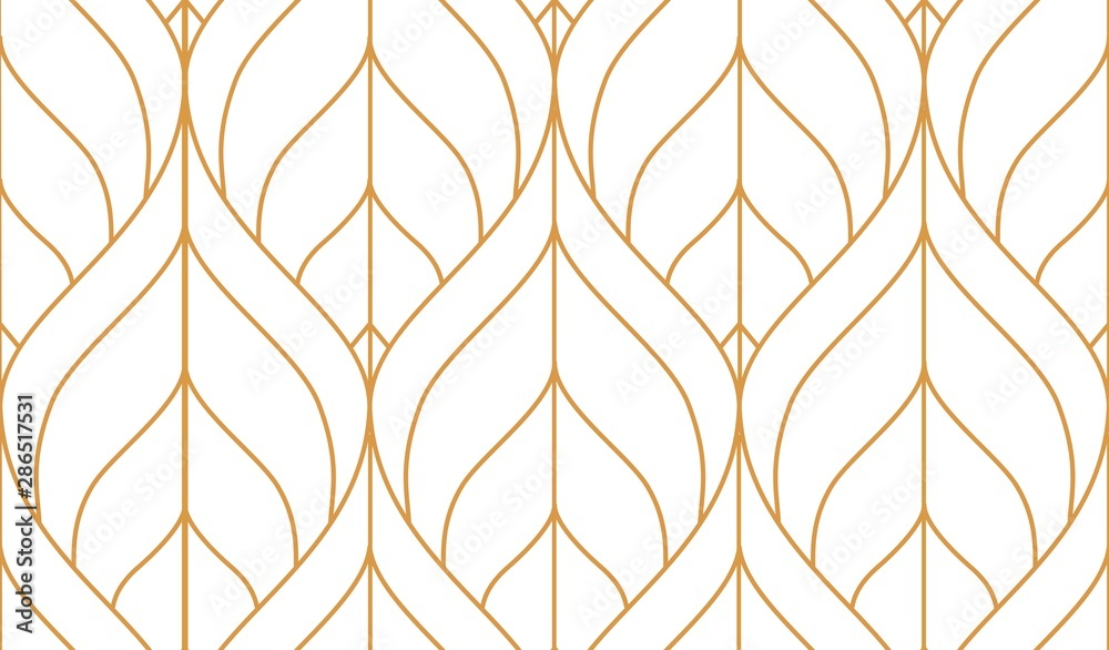 Fototapeta Vector seamless geometric pattern. Gold linear pattern. Wallpapers for your design.