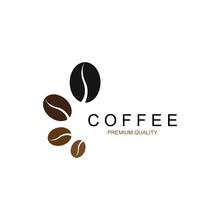 Vector Coffee Beans Template Vector Icon Illustration Design