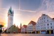 canvas print picture - Stadtturm / Stadtplatz / Straubing / Gäuboden / Niederbayern