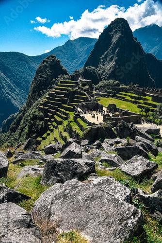 Machu Picchu UNESCO World Heritage Site in Peru Canvas Print