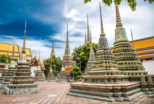 Views Of Wat Pho Temple In Bangkok Thailand