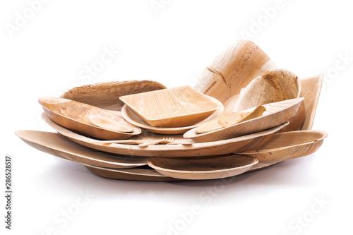 Cuadros en Lienzo Geschirr aus Palmblatt biologisch abbaubar