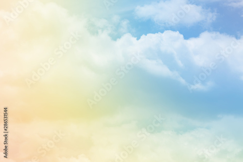 Obraz Cloud background with a pastel colour  - fototapety do salonu
