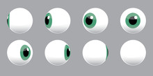 3D Eyeball Spinning Vector Illustration