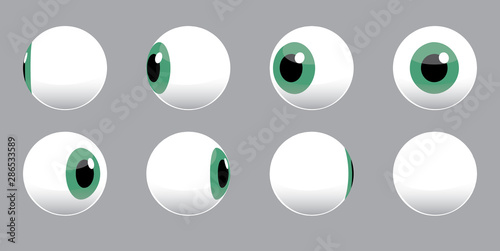 3D Eyeball Spinning Vector Illustration Wallpaper Mural