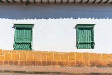 Facades Of Barichara In North Of Santander Colombia