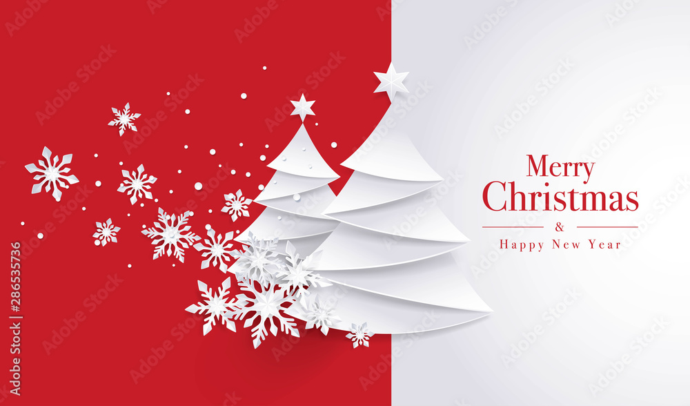 Fototapeta Merry Christmas Greeting card