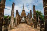 Buddha in Sukhothai historical park in thailand
