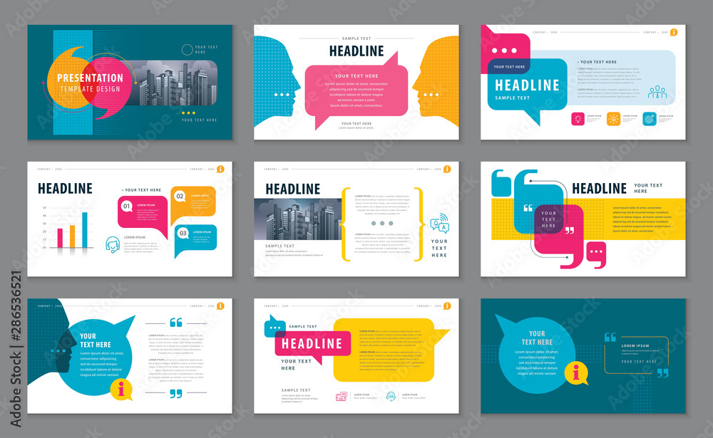 Fototapeta Abstract Presentation Templates, Infographic elements Template design set