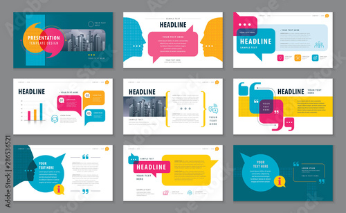Fototapeta Abstract Presentation Templates, Infographic elements Template design set obraz
