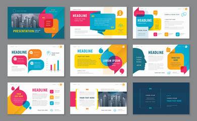 Abstract Presentation Templates, Infographic elements Template design set for Brochures