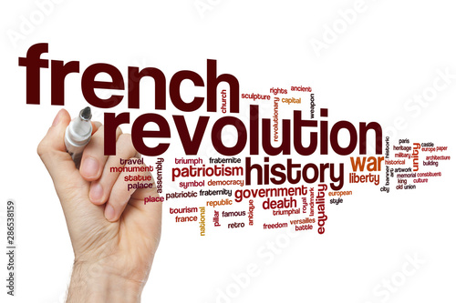 Obraz na plátně French revolution word cloud