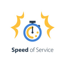 Fast Time, Stop Watch Speed, Quick Delivery, Express And Urgent Services