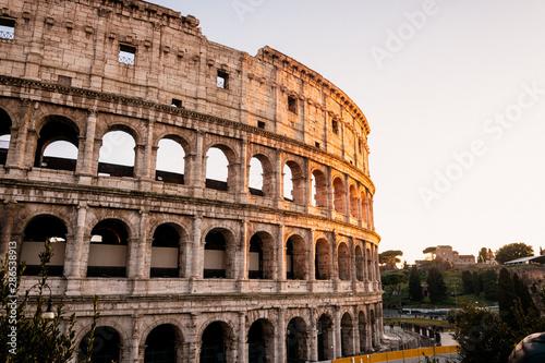 Fototapeta  The Coloseum in Rome with beautiful dusk colours