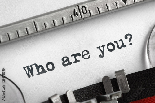 Photo Who are you typed on an old typewriter