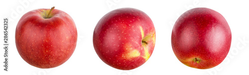 Fototapeta Red apple isolated on white background with clipping path