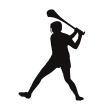 Hurling Player Silhouette