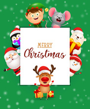 Christmas Greeting Card. Holid...
