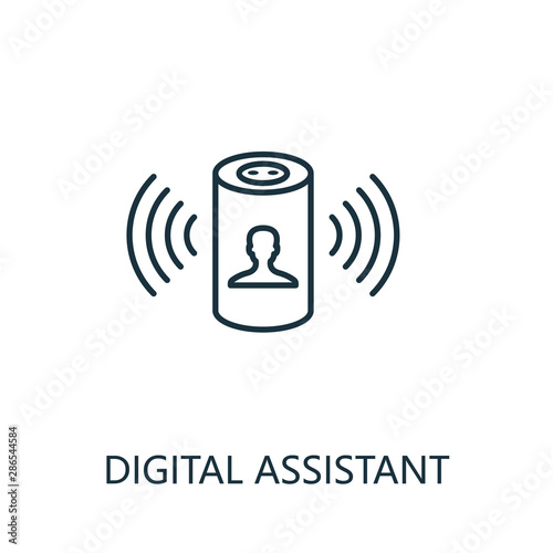 Digital Assistant outline icon Canvas Print