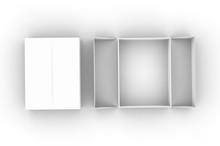Blank Hard Box For Branding And Mock Up. 3d Render Illustration.