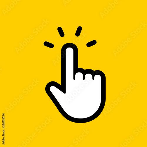 Fotomural  Hand clicking icon. Finger cursor vector.