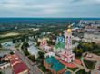 Aerial view of city of Tambov and Kazan icon of Our Lady Monastery
