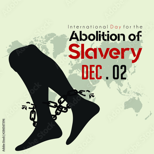 International Day for the Abolition of Slavery, Foot with broke chain Wallpaper Mural