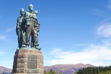 Commando Memorial Near Spean Bridge In The Scottish Highlands