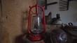 A kerosene lamp. Maritime Museum. Slow motion.
