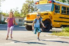Elementary School Kids Leaving...