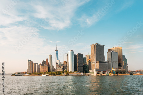 Fotografie, Tablou  New York City New Jersey, NYC/ USA - 08 21 2017: Amazing sunset on New York City