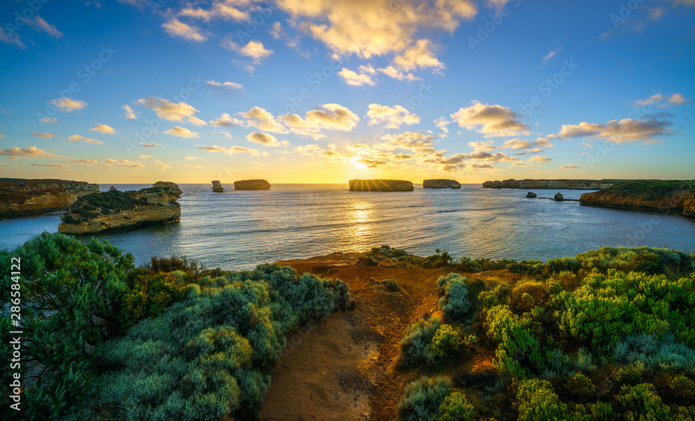 Fototapety, obrazy: sunset at bay of islands, great ocean road, victory, australia 71