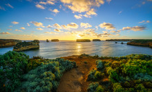 Sunset At Bay Of Islands, Grea...