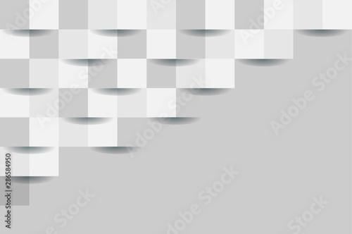 Fototapeten Künstlich 3D white seamless abstract background