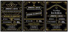 Wedding Invitation Art Deco Ga...
