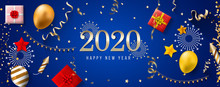 2020 New Year. 2020 Happy New Year Greeting Card. 2020 Happy New Year Background.