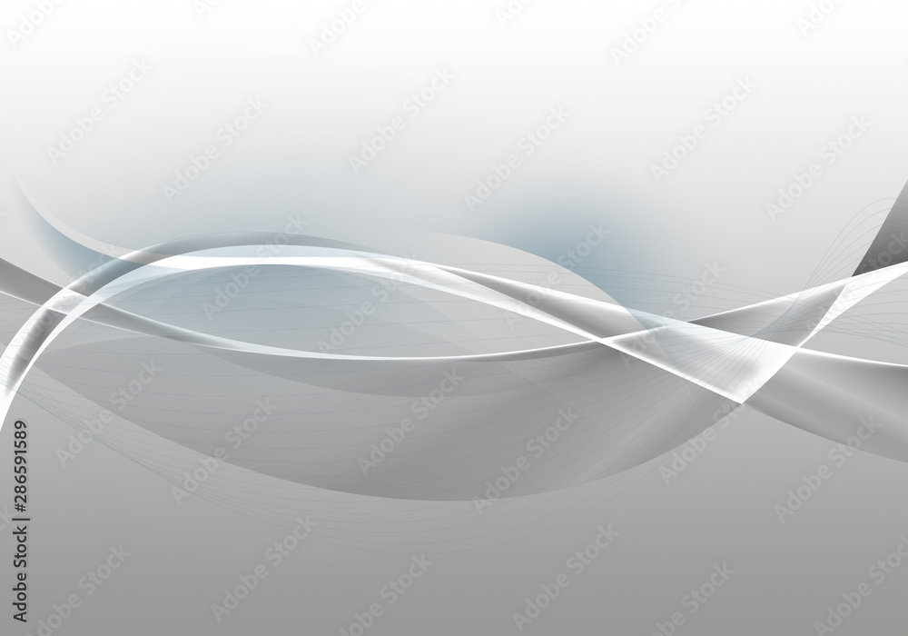 Abstract background waves. White and grey abstract background for business card or wallpaper